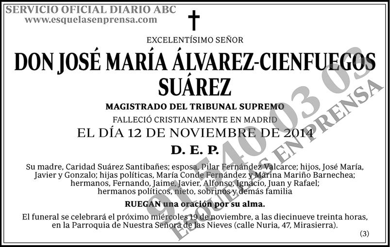 José María Álvarez-Cienfuegos Suárez